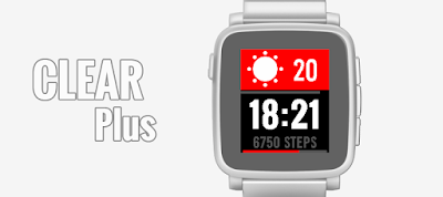 CLEAR Plus watchface for Pebble Time / Time Steel / Time 2