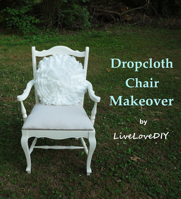 Dropcloth chair makeover