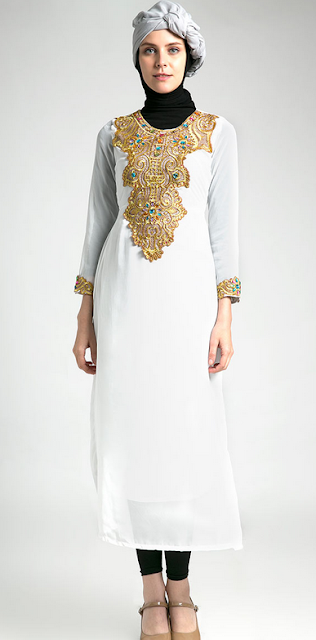 Model Baju Muslim Kaftan Remaja Terbaru