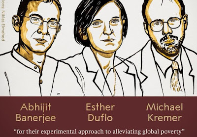 Nobel Prize In Economics Science 2019 Awarded to Abhijit Banerjee, Esther Duflo and Michael Kremer for work on global poverty