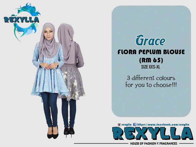 rexylla, flora, peplum, flora peplum, blouse, flora peplum blouse, grace collection