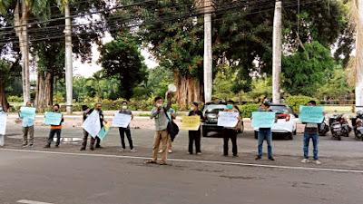 Pemred Media Online Tewas Ditembak, Wartawan Lotim Gelar Aksi Solidaritas