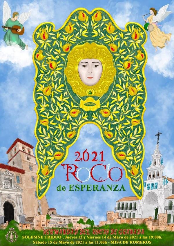 Este es el cartel de la Hermandad del Rocío de 2021 de Granada