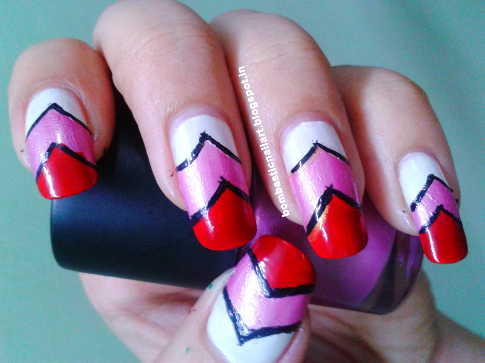 Diy heart nail art with tape bombastic nail art heart nail art prinsesfo Image collections