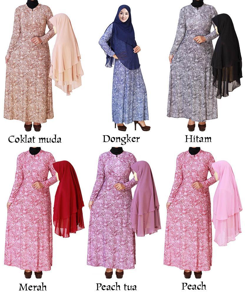 Baju Gamis Modis Berbahan Batik Baju Batik Muslim Modis