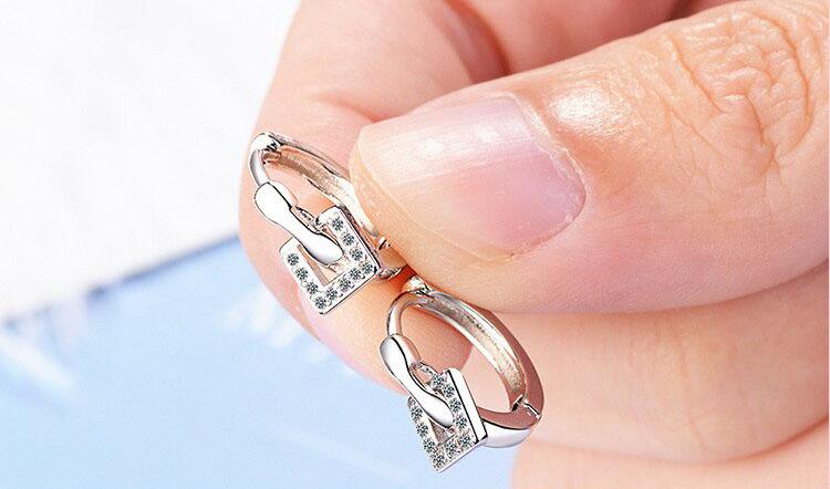 個性風茱丹鋯石鍍銀耳環