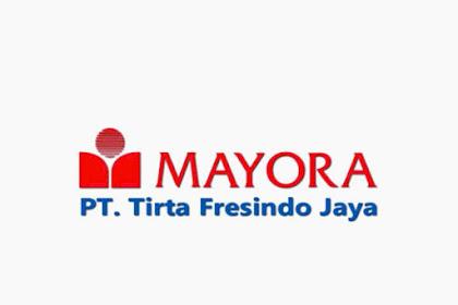 Lowongan Kerja Pasuruan Bulan Oktober 2019 PT. Tirta Fresindo Jaya (Mayora Group)