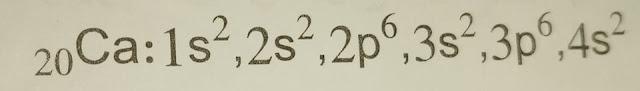 التشكيل الالكتروني لعنصر الكالسيوم