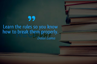 Learn the rules quote