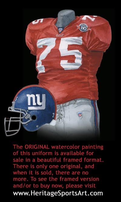 best service baa8f 46e21 New York Giants Uniform and Team History | Heritage Uniforms ...