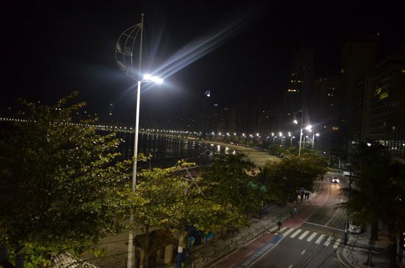 Vista da hotel Marambaia - avenida Atlântica - Onde ficar em Balneário Camboriú (SC)