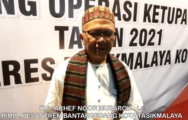 KH Achef Noor Mubarok Pimpinan Pesantren Bantargedang Kota Tasikmalaya Sambut Baik Dalam Menggelorakan Semangat Polri Yang Presisi