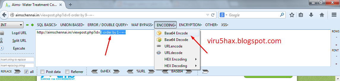 The Virus: SQL Injection using Base64 Encoded Quires