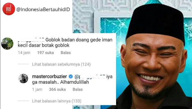 "Dihina Netizen ""Botak Gobl*k"" Deddy Corbuzier Balas ""Alhamdulillah"""