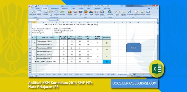 Aplikasi KKM Kurikulum 2013 SMP MTs Mata Pelajaran IPS
