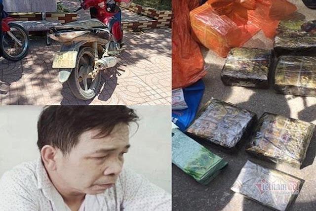 Nổ súng truy bắt kẻ đi xe máy chở 7kg ma túy ở Hà Tĩnh