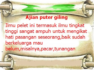 ajia puter giling