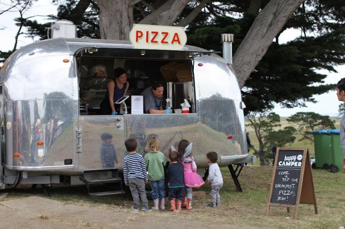caravana camper pizza
