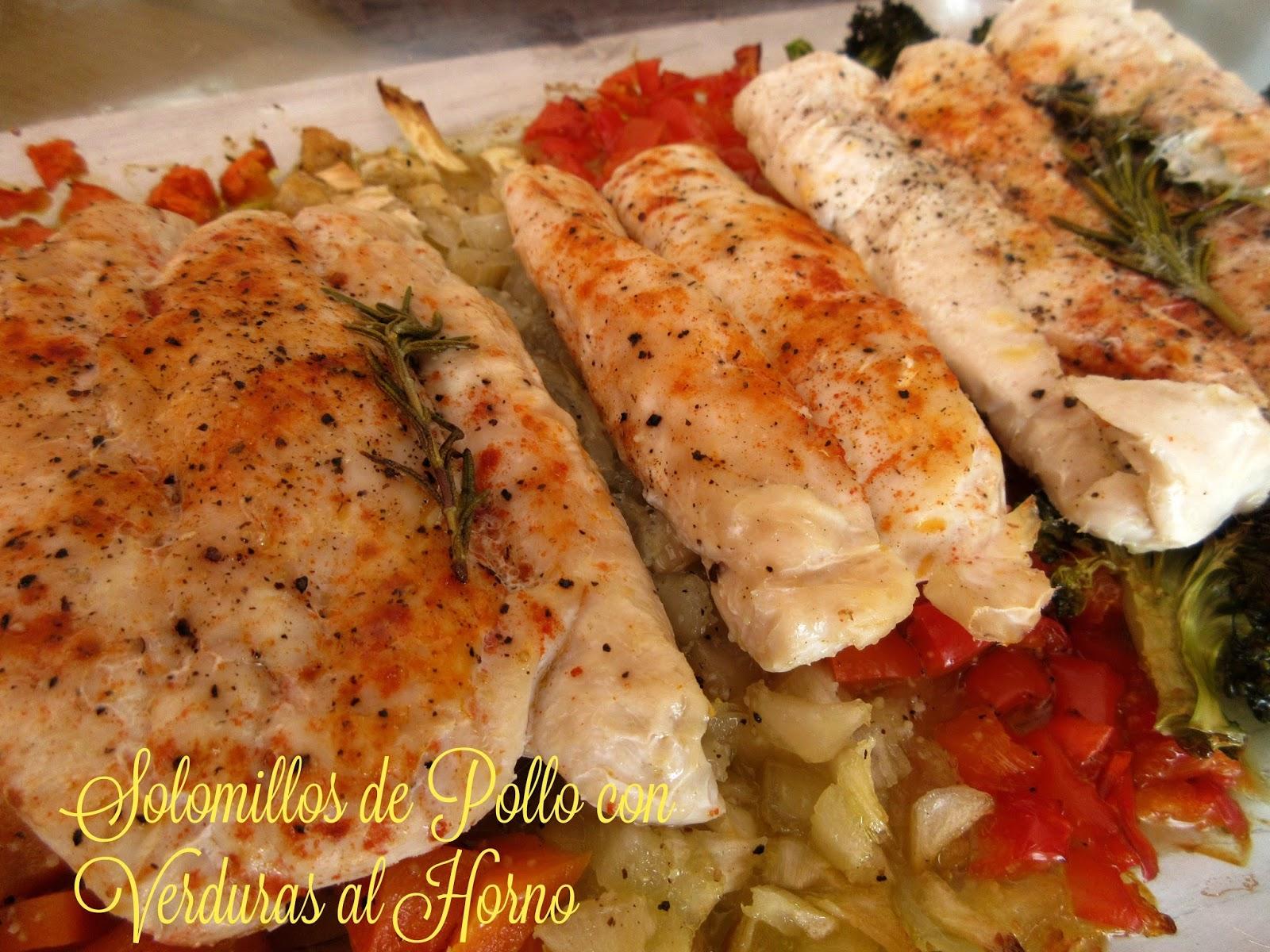 Solomillos de pollo al horno con verduras cocina con reina - Cocinar verduras al horno ...