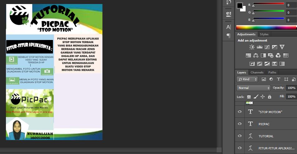 Tutorial pembuatan poster aplikasi menggunakan photoshop