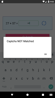 React Native Captcha Code Validation Android & IOS Example