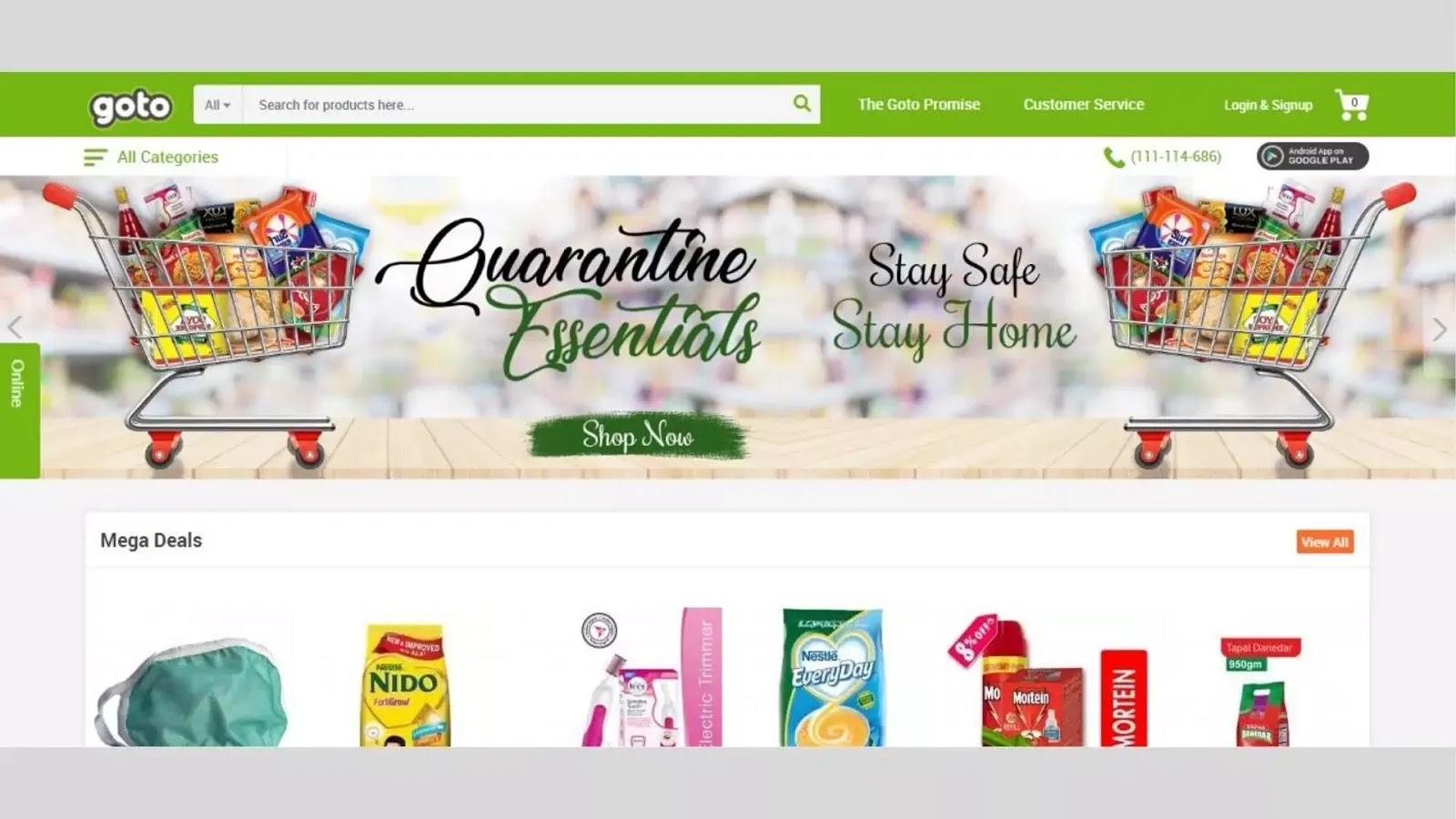 Best shopping sites in Paksitan Goto.com.pk