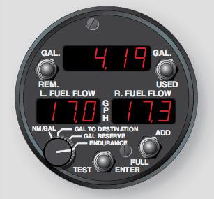 Aircraft fuel system indicators
