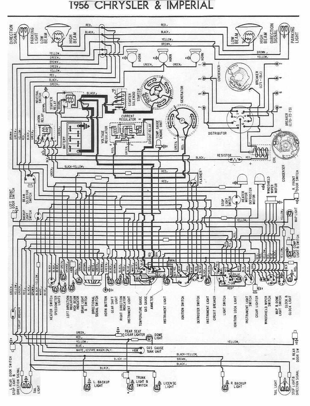 Electrical Wiring Diagrams Of 1956 Chrysler And Imperial