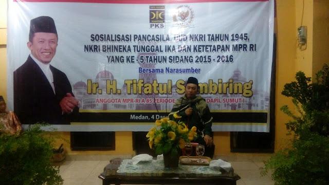 Pentingnya Nasionalisme, Tifatul Sembiring Sosialisasi 4 Pilar Kebangsaan