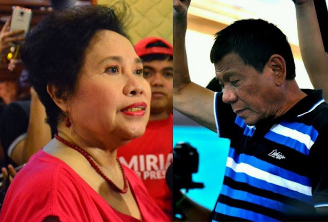 Sen. Miriam Defensor-Santiago and Davao Mayor Rodrigo Duterte.