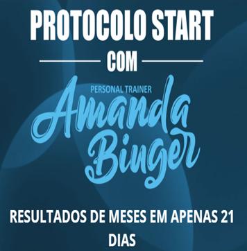 Dê um START em sua vida com a profissional e  personal trainer Amanda Binger!