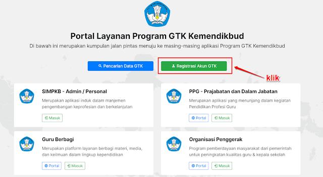 Registrasi Akun GTK di SIMPKB