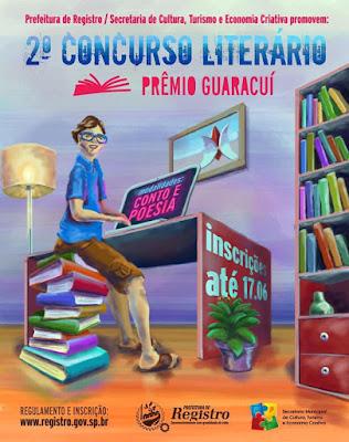 Inscrições abertas para o 2  Prêmio Guaracuí de Literatura