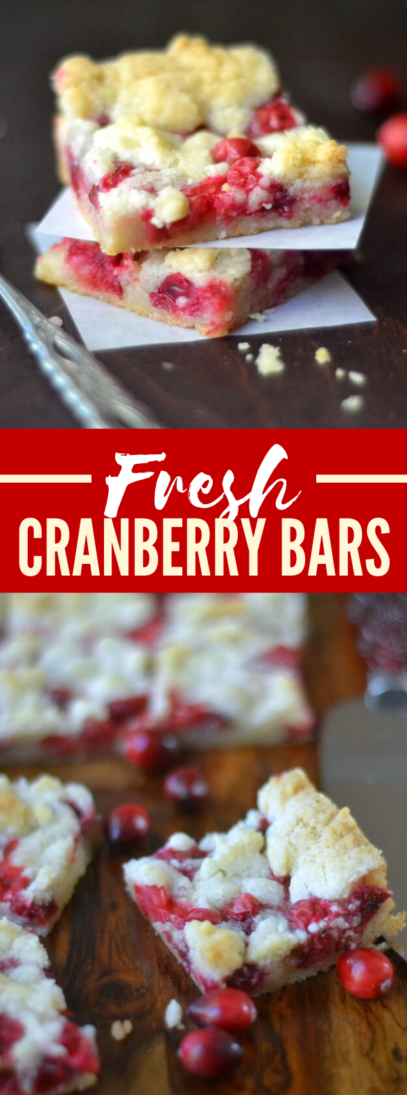FRESH CRANBERRY BARS #desserts #freshtart