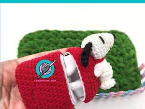 COMO TEJER FUNDAS PARA AIRPODS en crochet DE SNOOPY / How to crochet Airpods SNOOPY cover