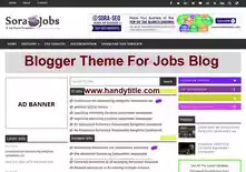 Best Blogger theme for jobs portal blog