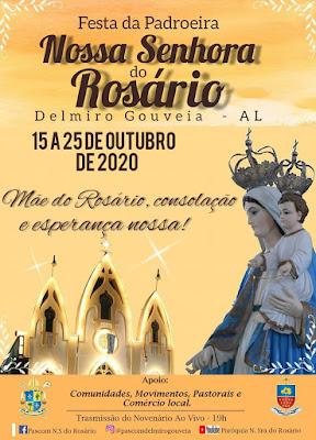Data da Festa de Nossa Senhora do Rosário em Delmiro Gouveia é divulgada pela Paróquia de Nossa Senhora do Rosário