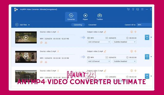 AnyMP4 Video Converter Ultimate 8.1.18 Win  Mac Multimedia Converter