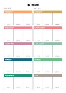 Stampin' Up! rosa Mädchen Kulmbach: Farbmusterblätter für den neuen Jahreskatalog aller Farbfamilien und In Color.
