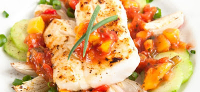 Tilapia & Summer Vegetable Packets , 3 smart points