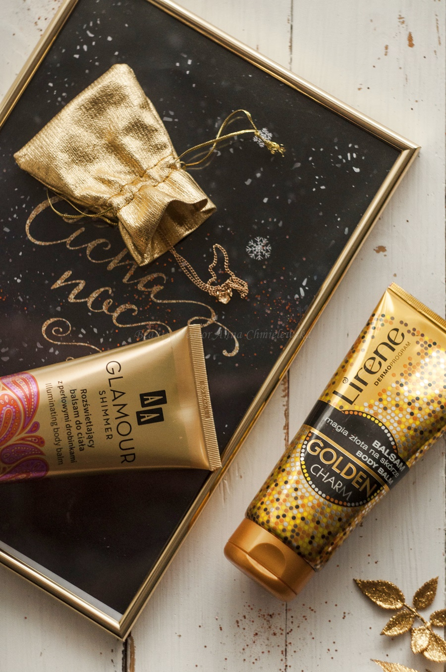 balsam rozświetlający, balsam z drobinkami, aa glamour shimmer, lirene golden charm, balasam rozwietlający lirene, balsamy rozświetlające AA,