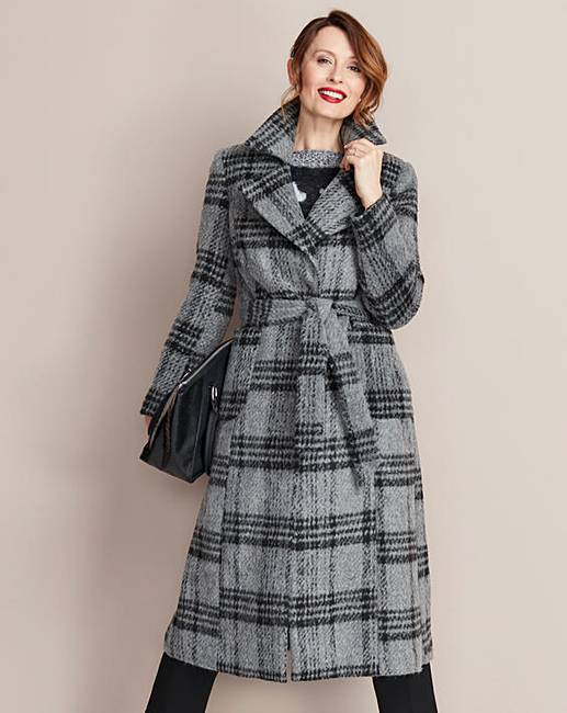 JD Williams Wool Fit & Flare Coat
