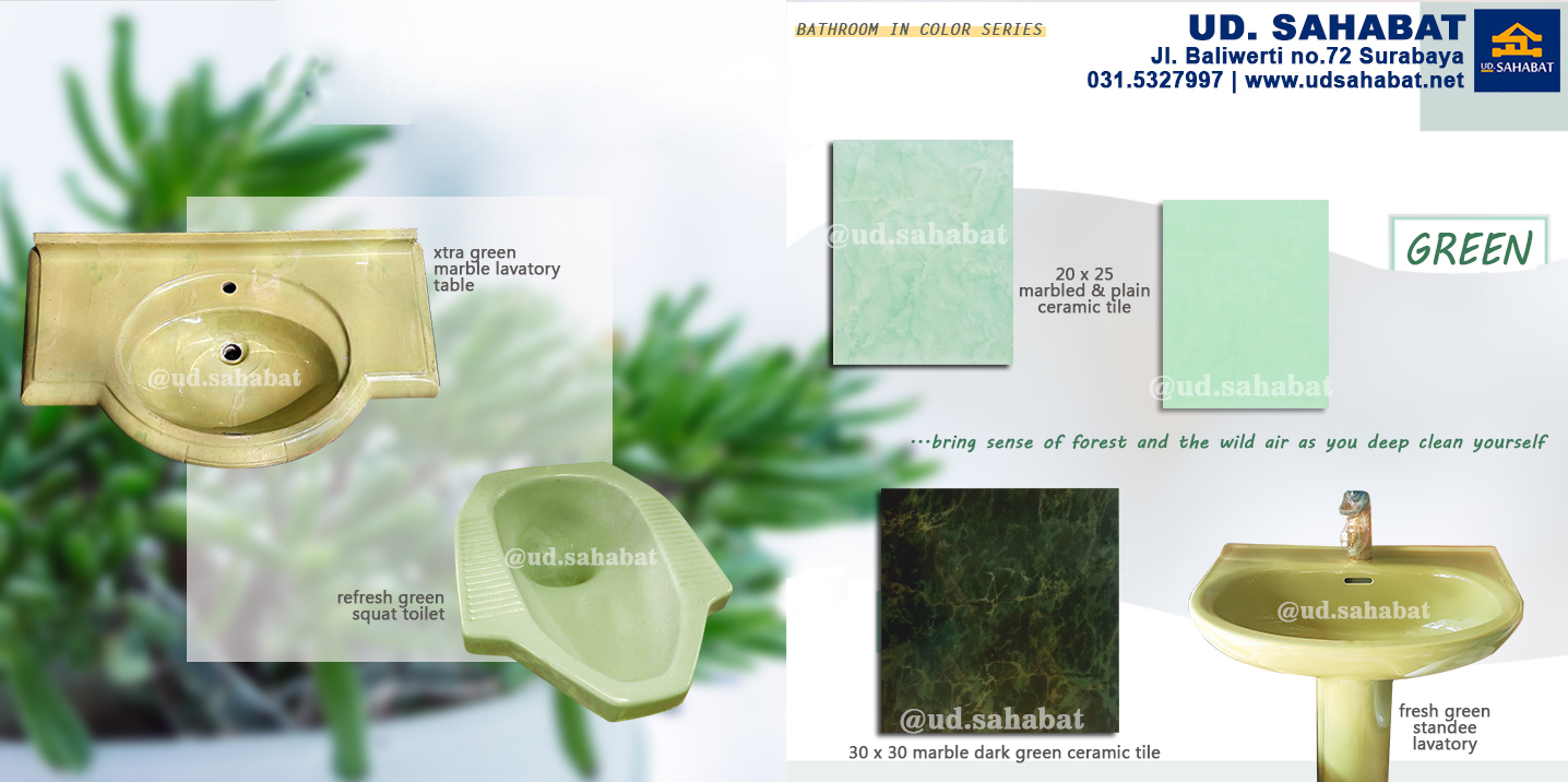 jual perlengkapan kamar mandi serba hijau ud sahabat surabaya