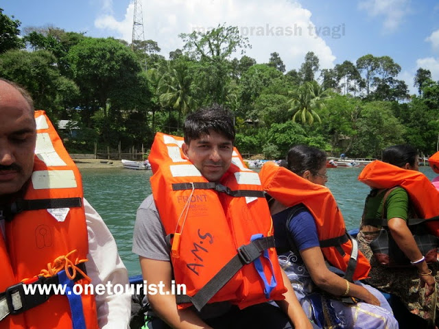 speed boat journey for lime stone caves , baratang , andaman