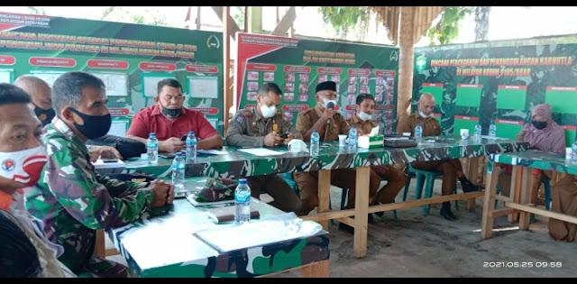Kendalikan Covid - 19, Pelaku Usaha Se - Aceh Barat Di Rapatkan Ke Makodim 0105/Abar