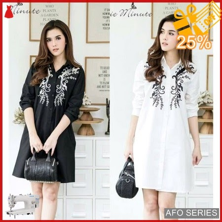 AFO600 Model Fashion Dress Flower Blackwhite LD 95 Murah BMGShop