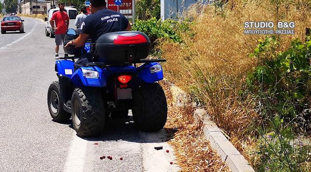 """Ναύπλιο: Ανατροπή """"γουρούνας"""" με τραυματισμό γυναίκας οδηγού στην παραλιακή"""