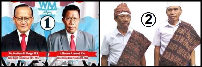 Dua pasang calon Bupati dan wakil Bupati Kabupaten Ende 2018
