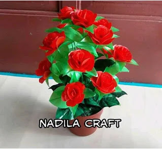 Bunga Mawar Dari Plastik Kresek