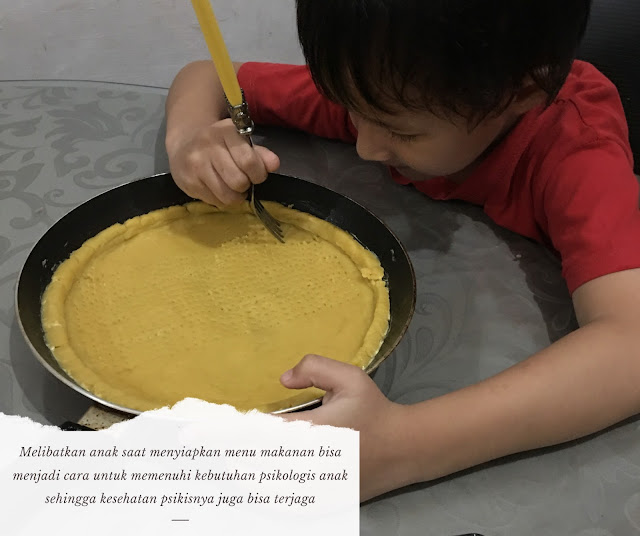 libatkan anak dalam menyiapkan menu makanan